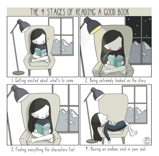 Stages Reading Good Book - best cartoons about books