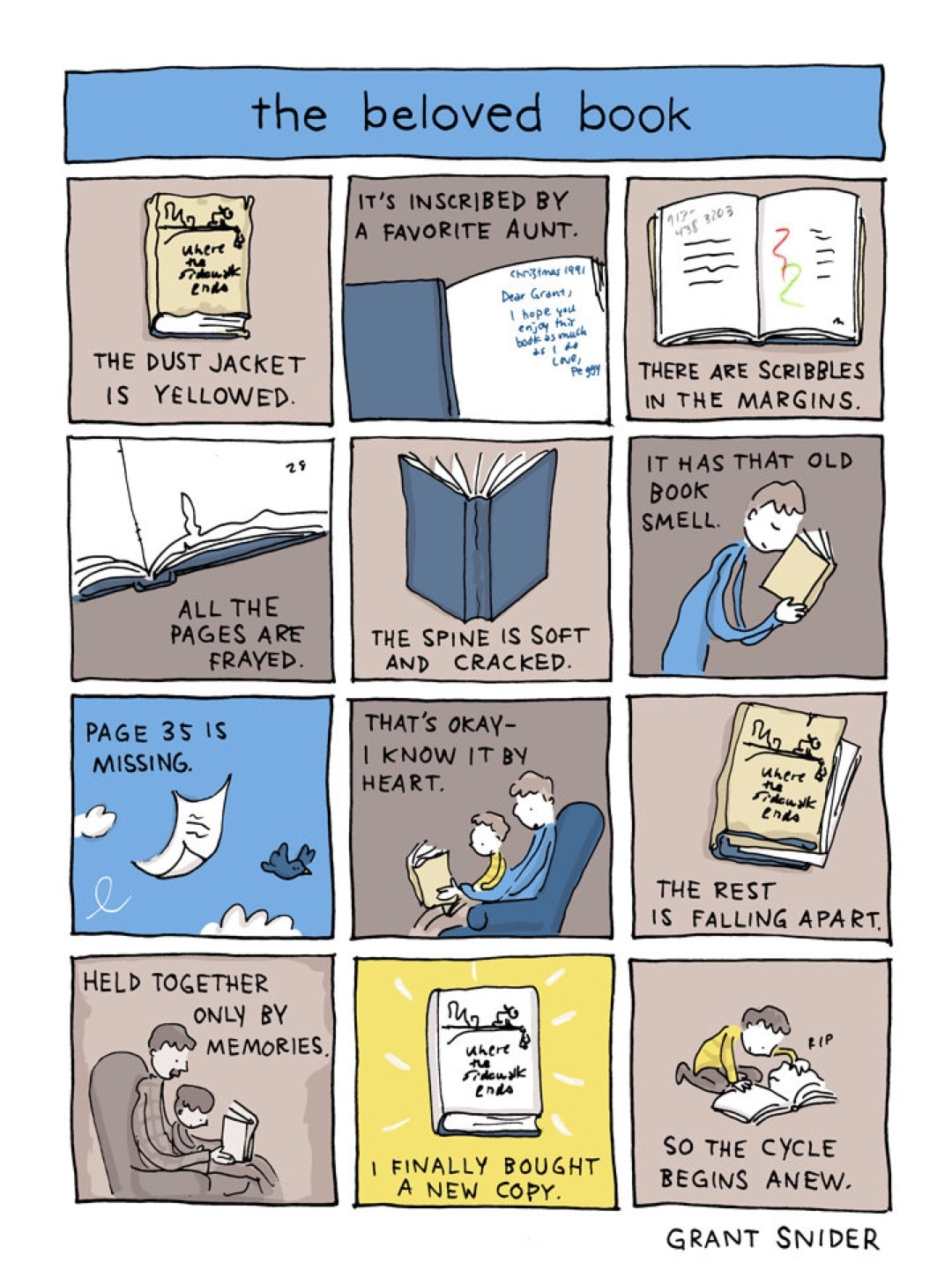 The Beloved Book by Grant Snider - best cartoons