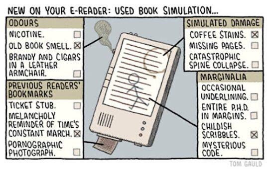 Used book simulation cartoon Tom Gauld