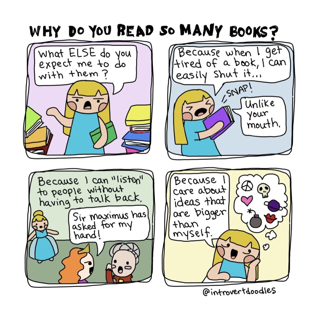 Why Do You Read So Many Books - best cartoons about books