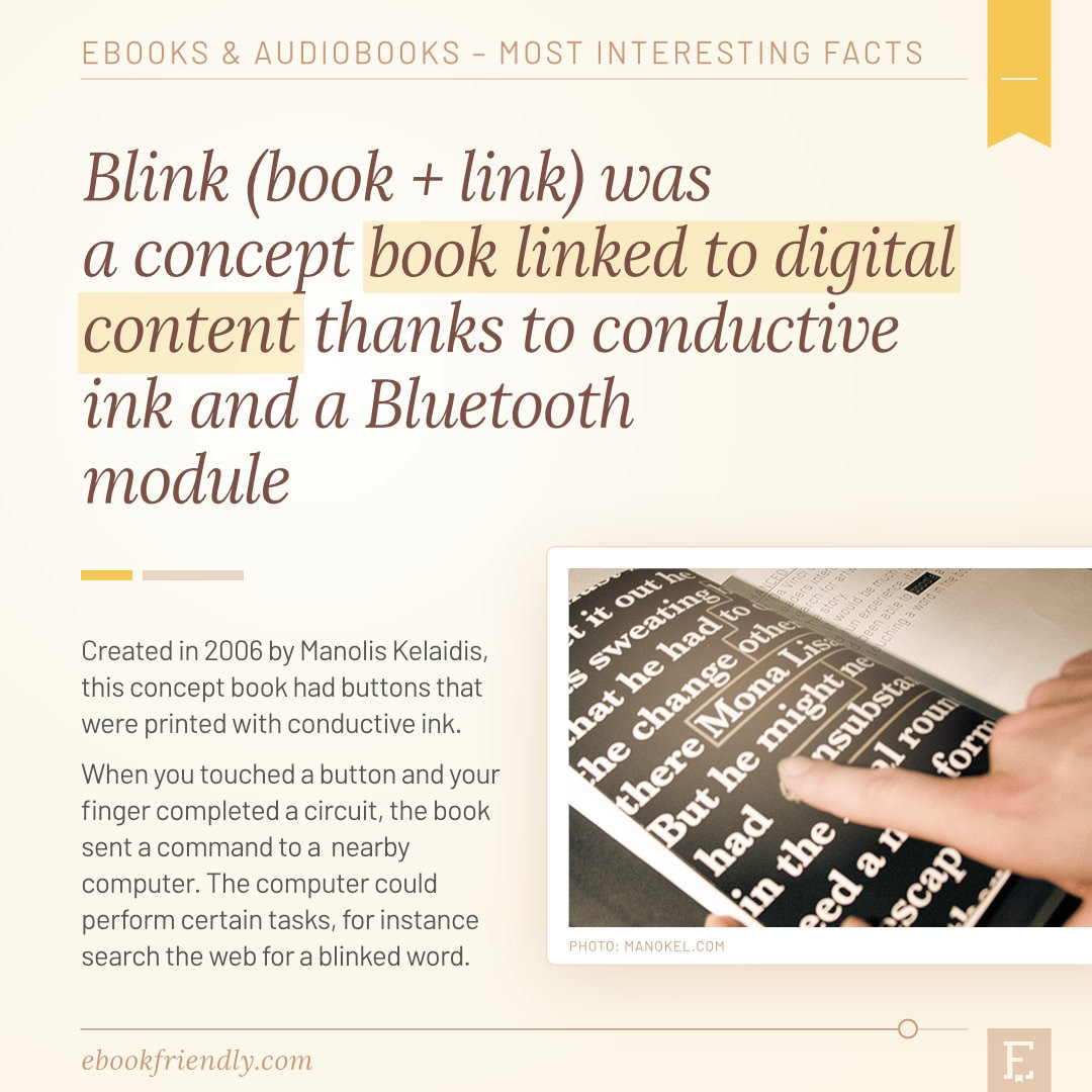 Blink print book linted to digital concept 2006