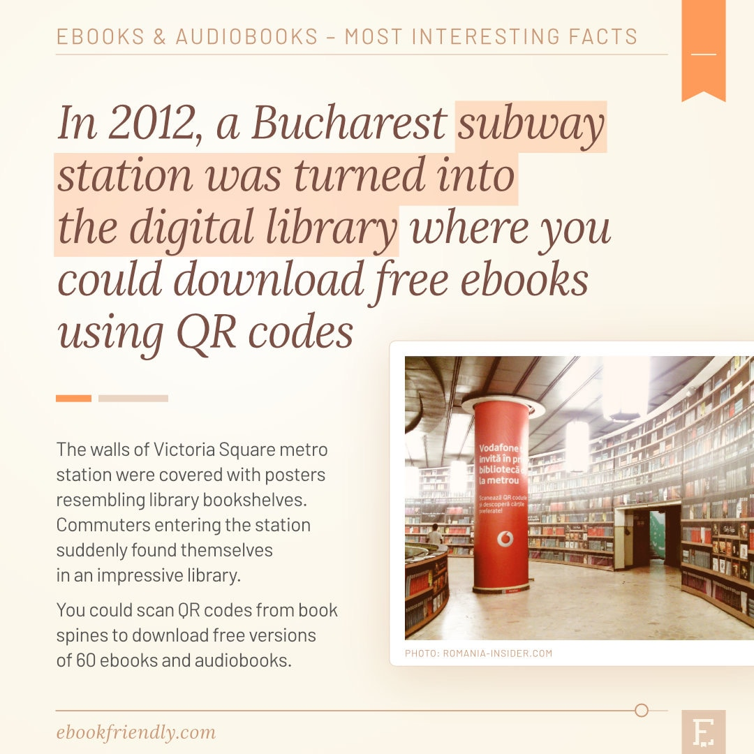 Digital library Bucharest subway station 2012