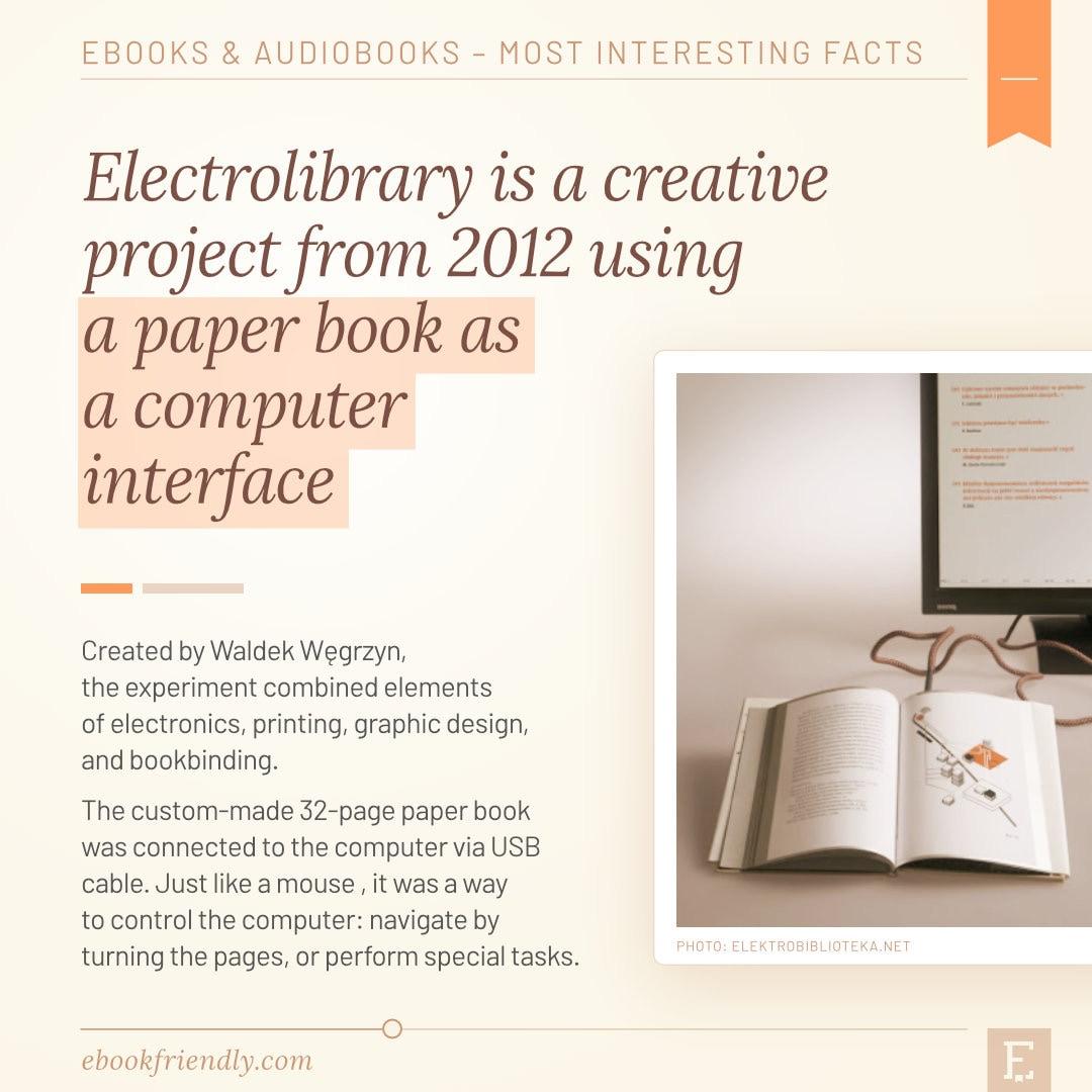 Electrolibrary book interface computer concept 2012