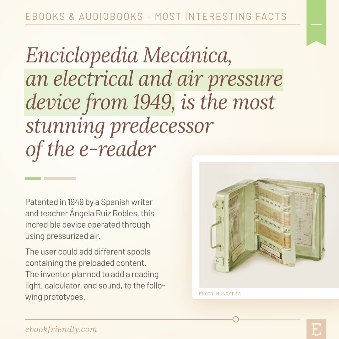 Enciclopedia Mechanica 1949 electrical air pressure predecessor of e-readers