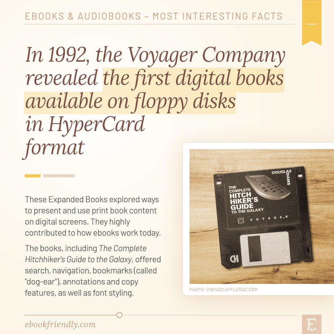 Expanded Books Voyager first books on floppy disks 1992