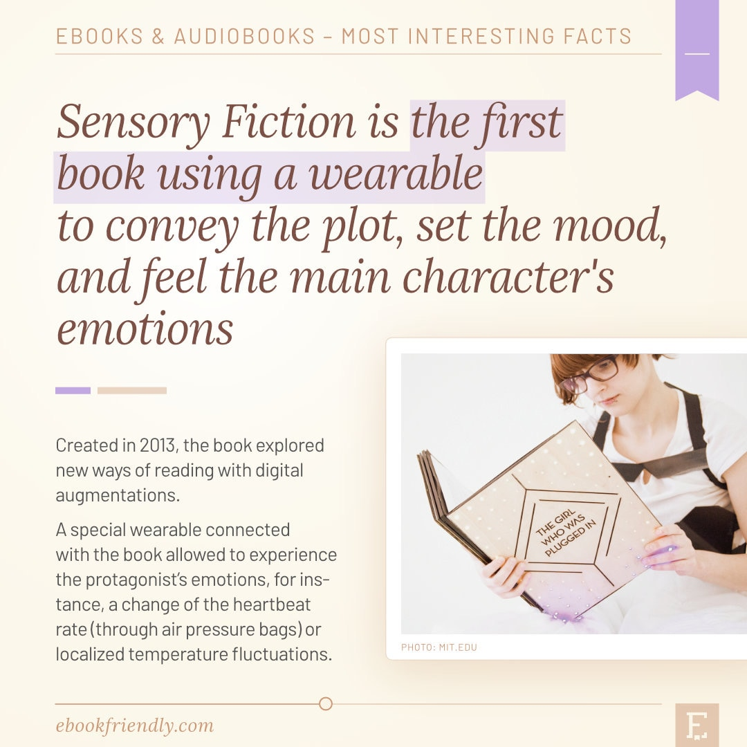 First book with wearable - Sensory Fiction 2013