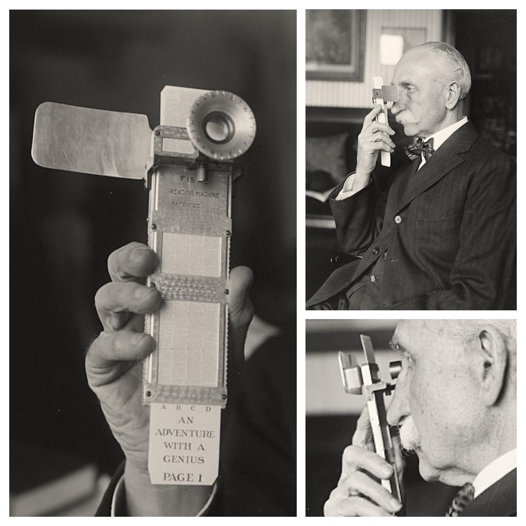 Fiske's handheld reading machine from 1920s