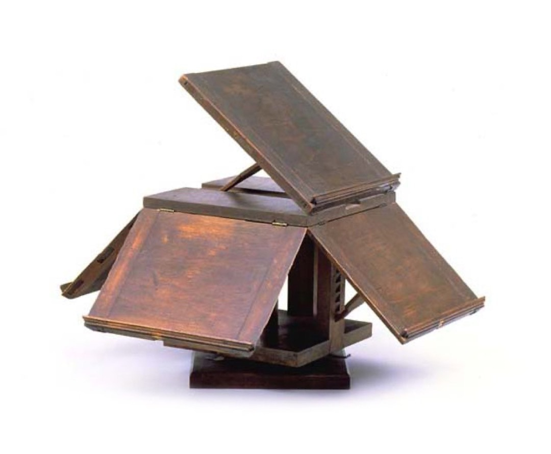 Revolving 5-book reading stand by Thomas Jefferson