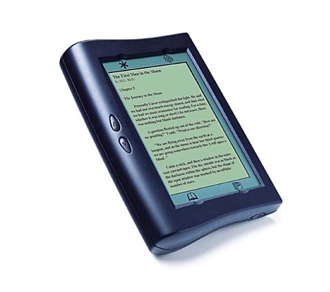 Rocket Ebook the first e-reader sold commercially 1998