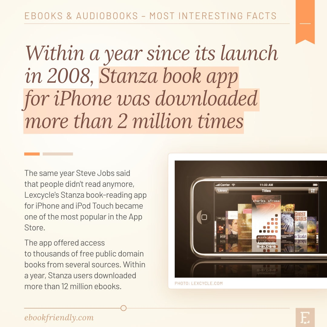 Stanza book app for iPhone 2008 2 million downloads