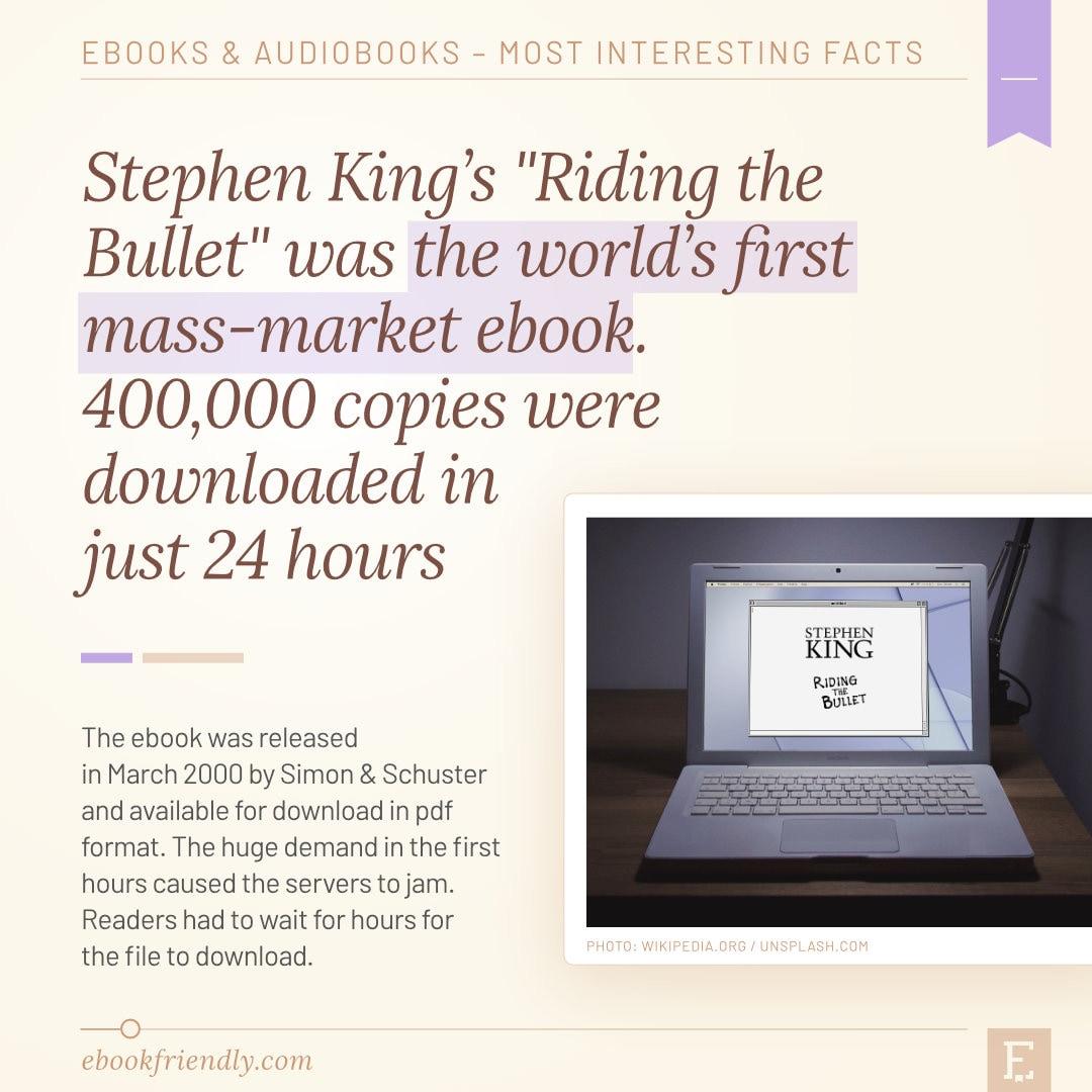 Stephen King Riding the Bullet first mass-market ebook 2000