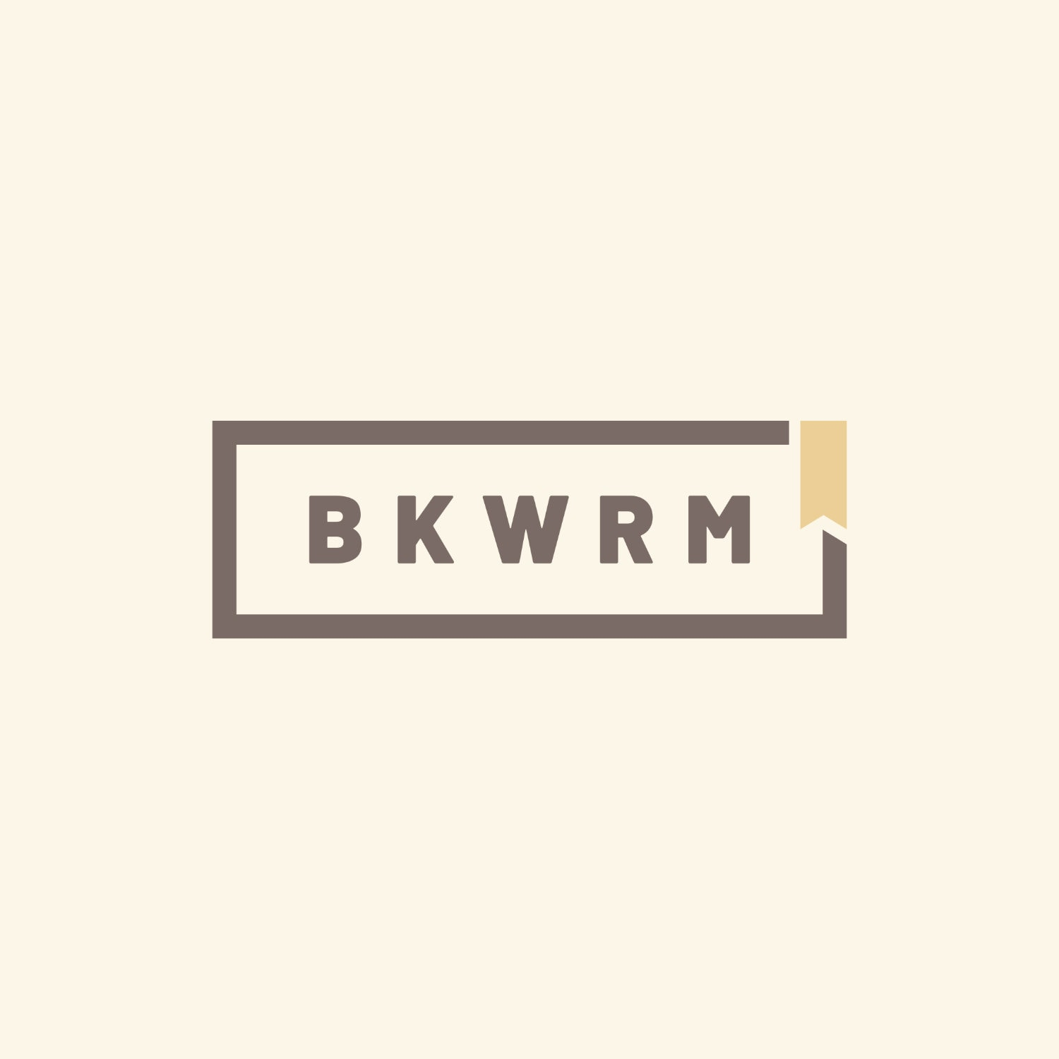 BKWRM - bookworm - bookish images to share - design by Piotr Kowalczyk