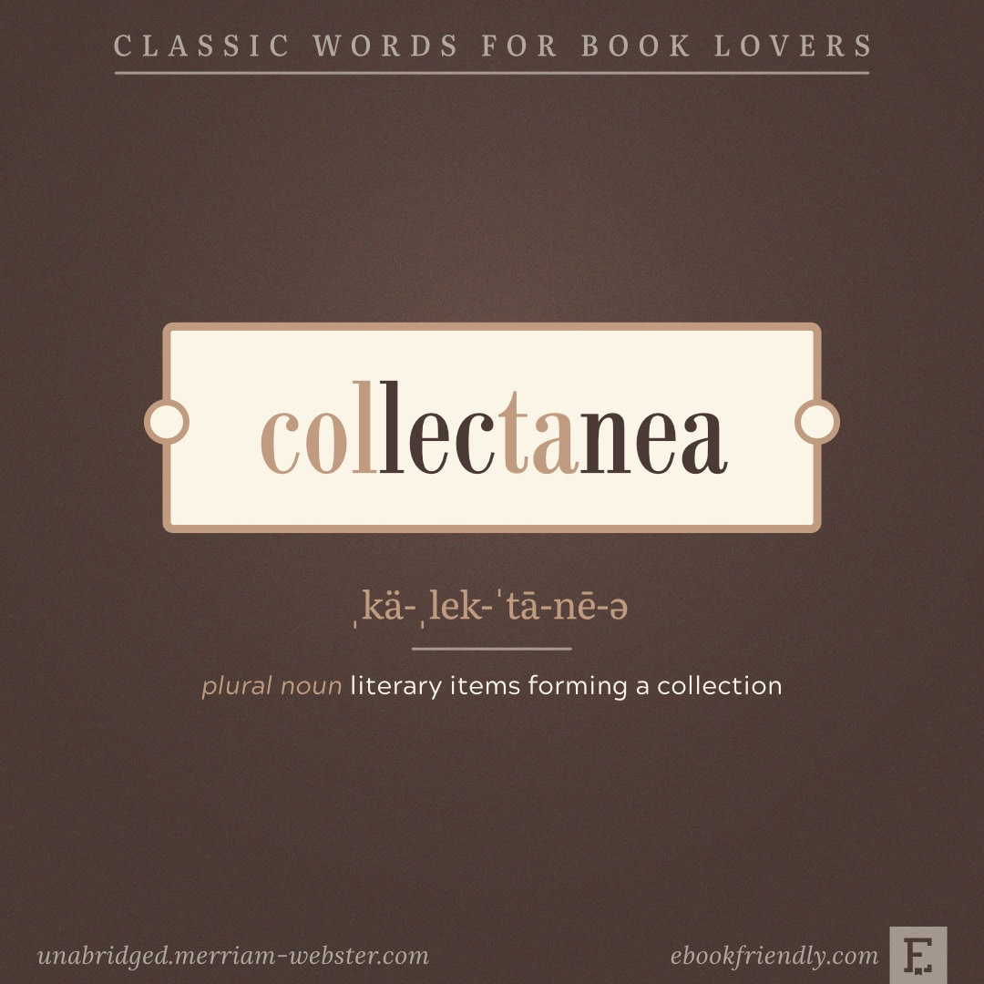 Collectanea - beautiful words for book lovers