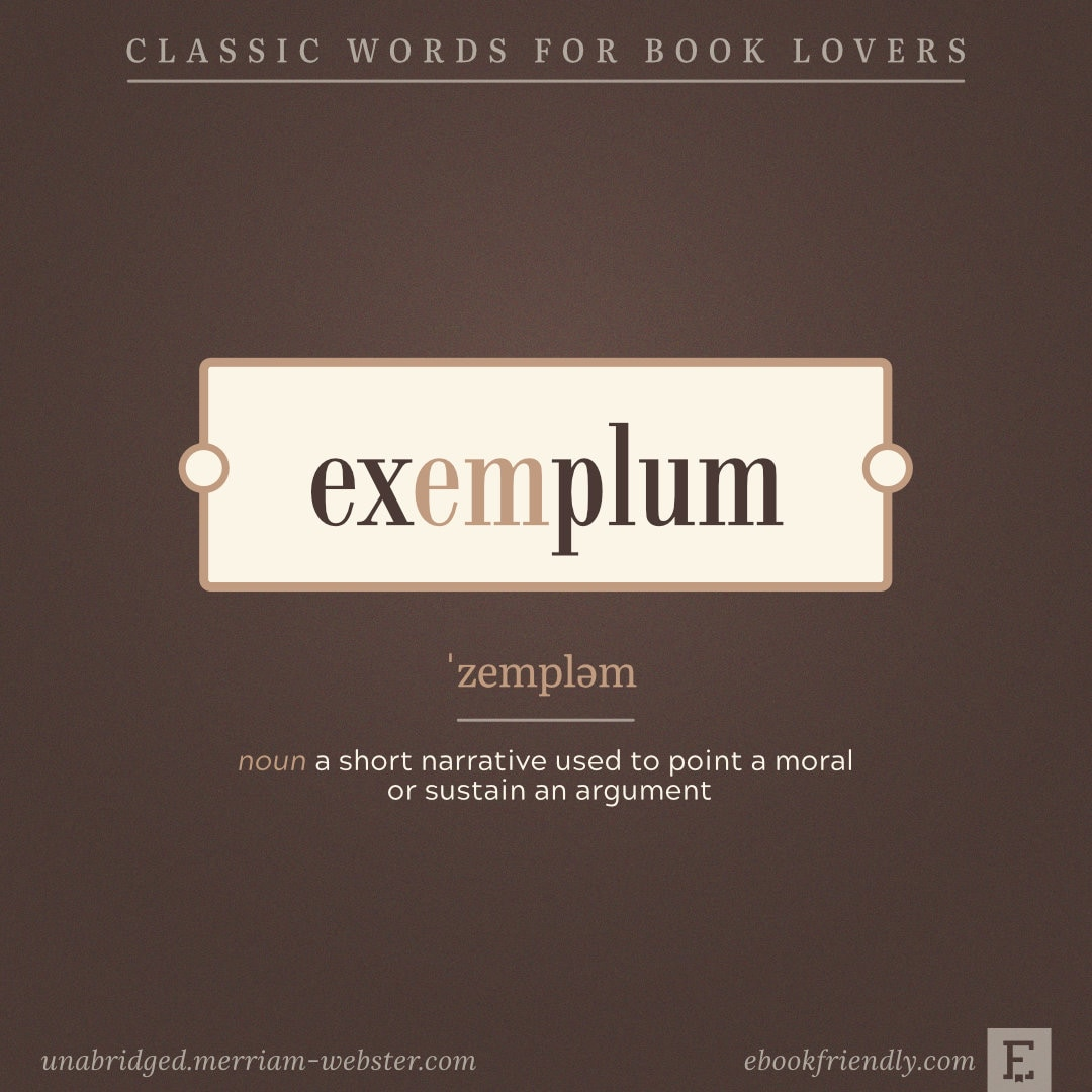 Exemplum - lesser-known words for bookworms
