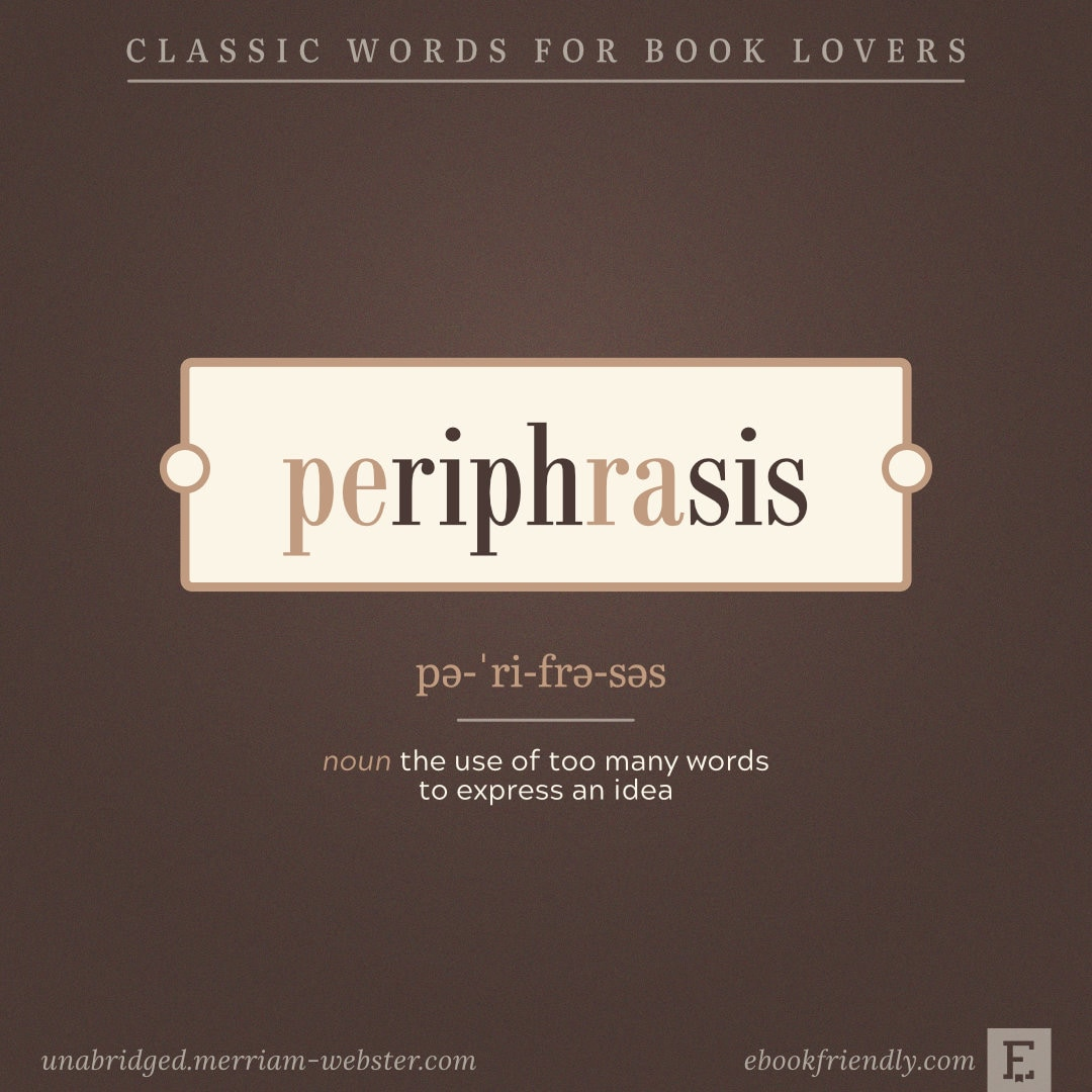 Periphrasis - words for book lovers