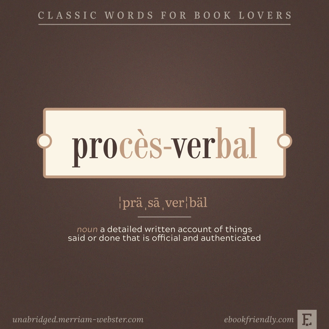 Proces-verbal - words for booknerds
