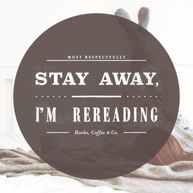 Stay away I am rereading poster by Piotr Kowalczyk