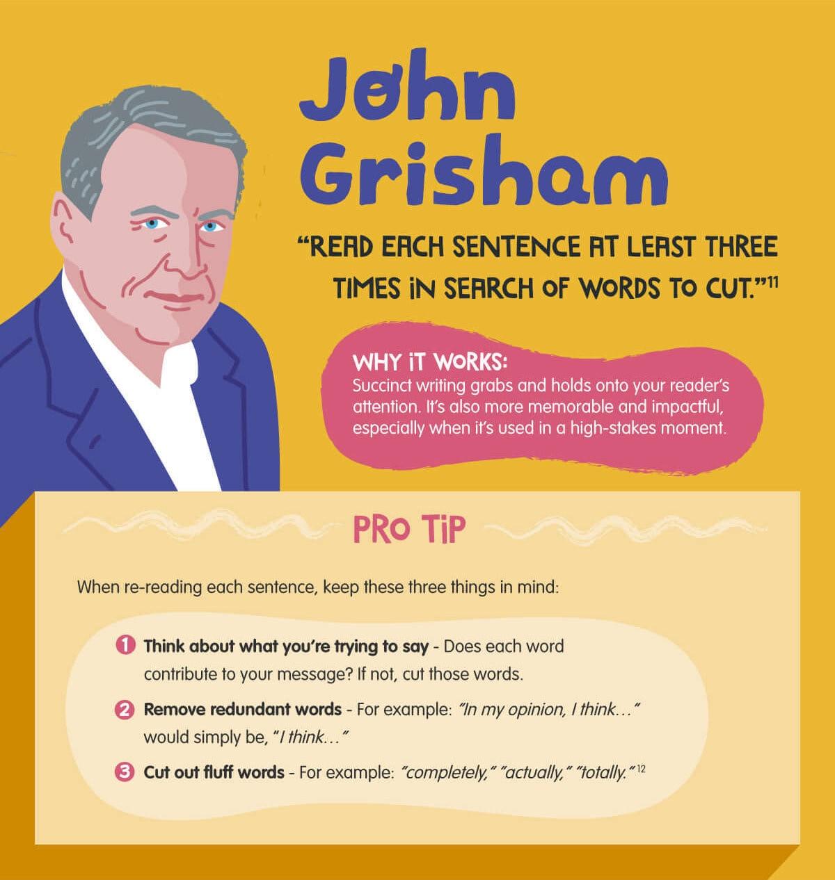 Best writing tip from John Grisham