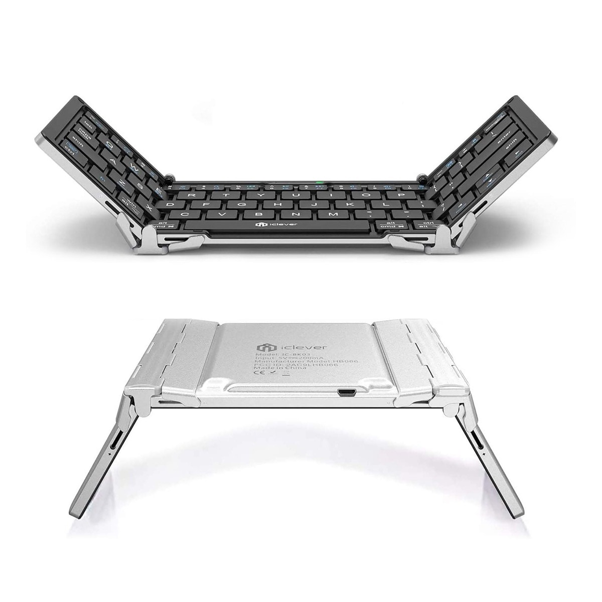 Durable aluminum Amazon Fire compatible keyboard iClever