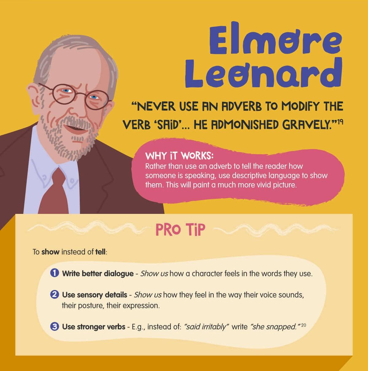 Elmore Leonard writing tips