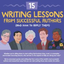 Most helpful writing tips from famous authors one at a time