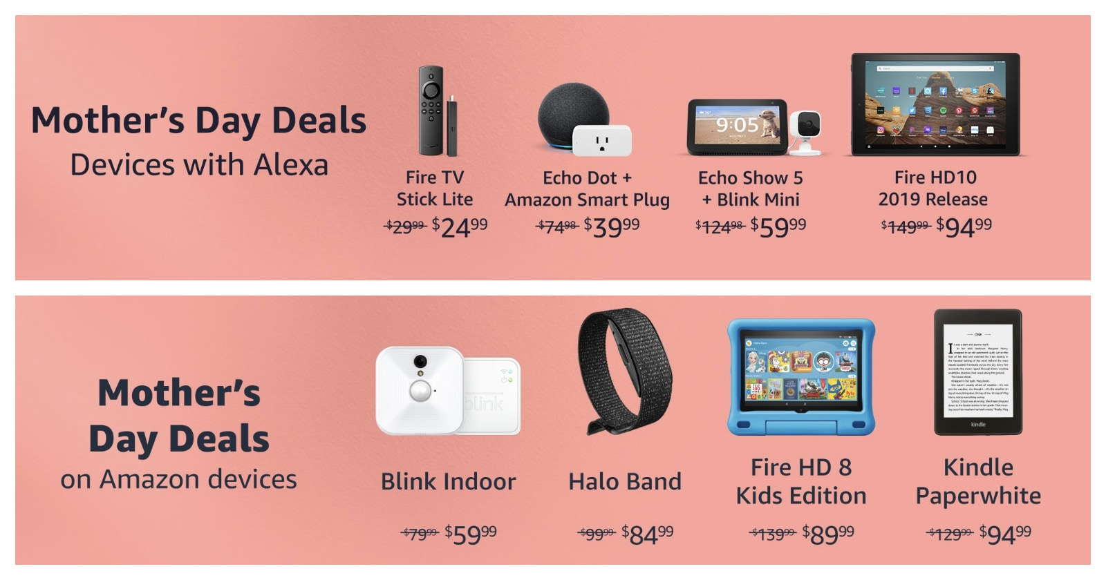 Mother's Day 2021 deals on Amazon devices Kindle Fire more