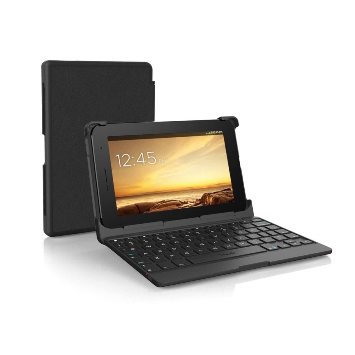 Spring-loaded folio keyboard case for Amazon Fire 7