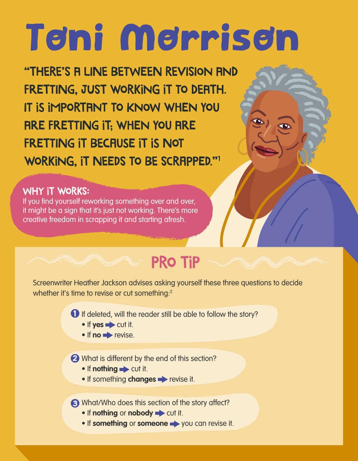 Toni Morrison writing tips