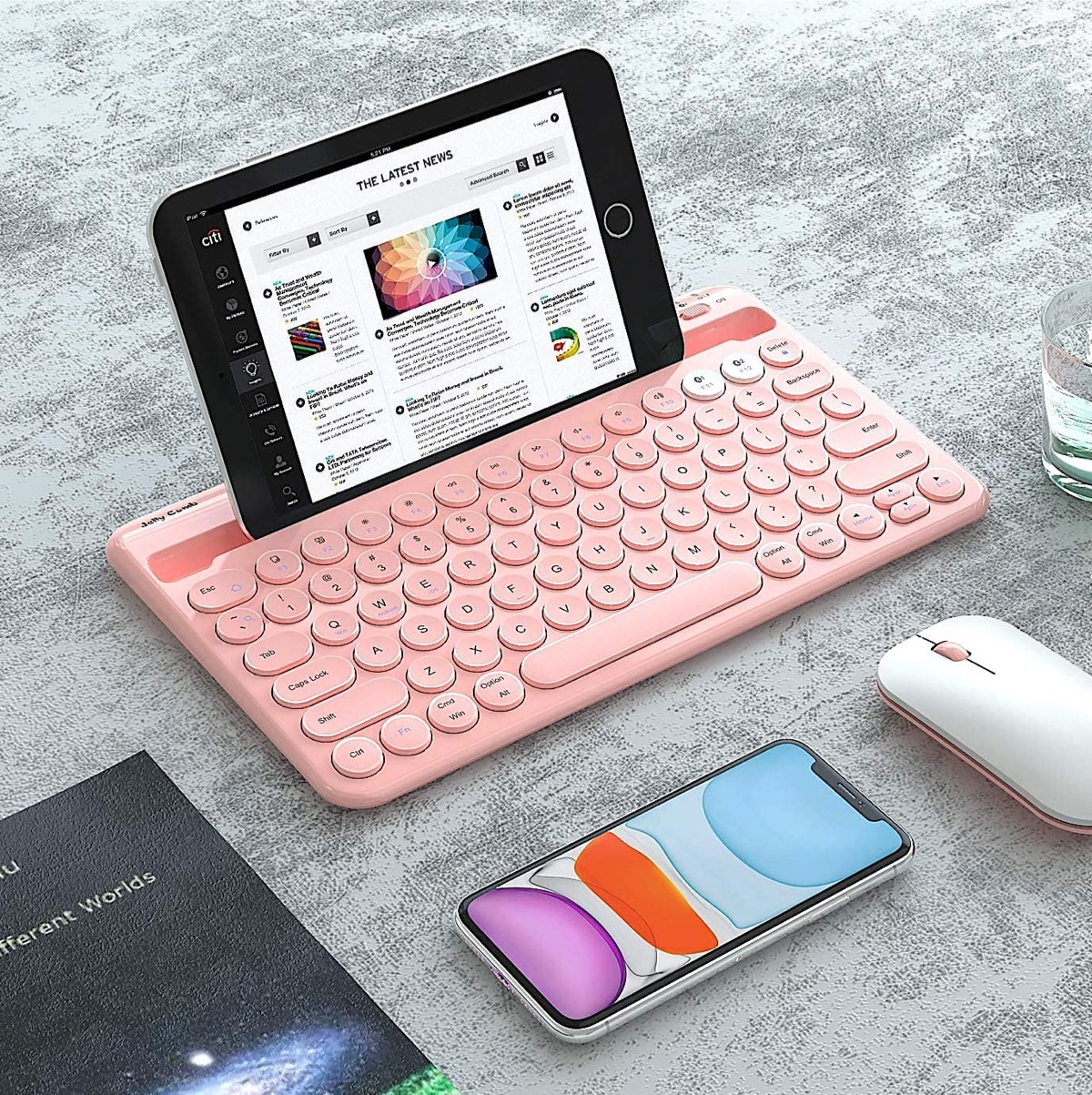 Vintage multi-device keyboard works with Amazon Fire