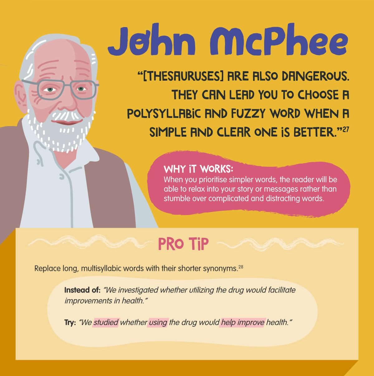 Writing tips from John McPhee