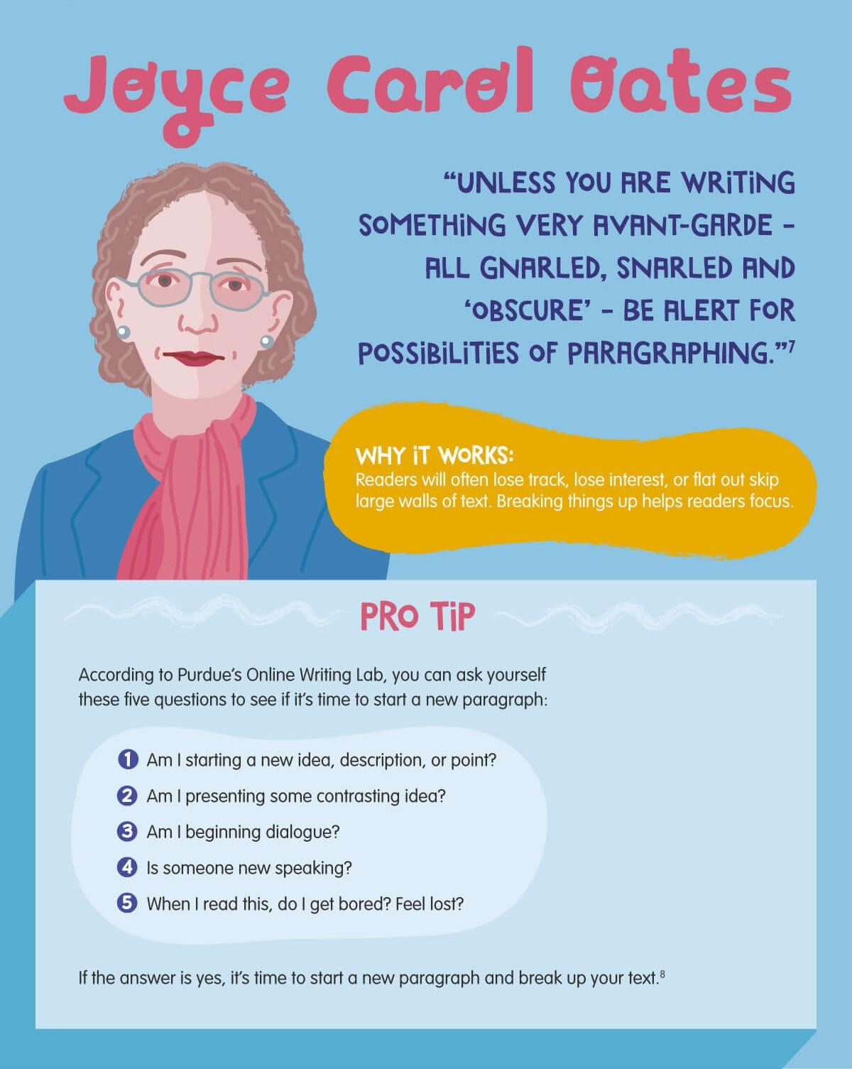 Writing tips from Joyce Carol Oates