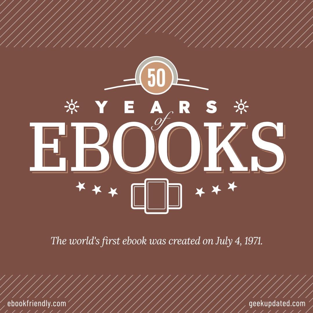 50 years of ebooks