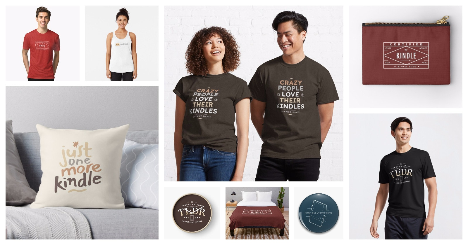 Best t-shirts, accessories, home decor for Kindle lovers