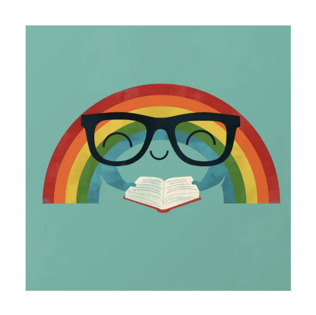Brainbow reading rainbow poster - best read posters