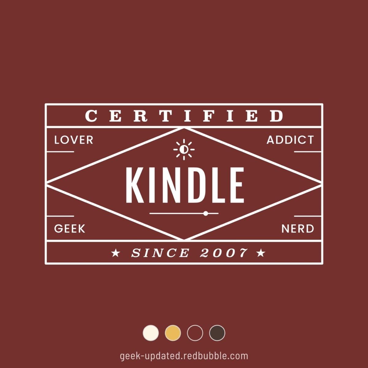 Certified Kindle lover - design by Piotr Kowalczyk