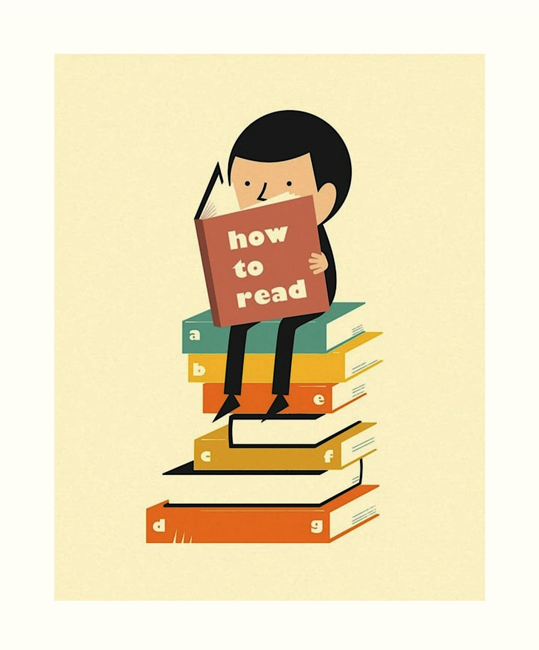How to read poster by Jazzberry Blue