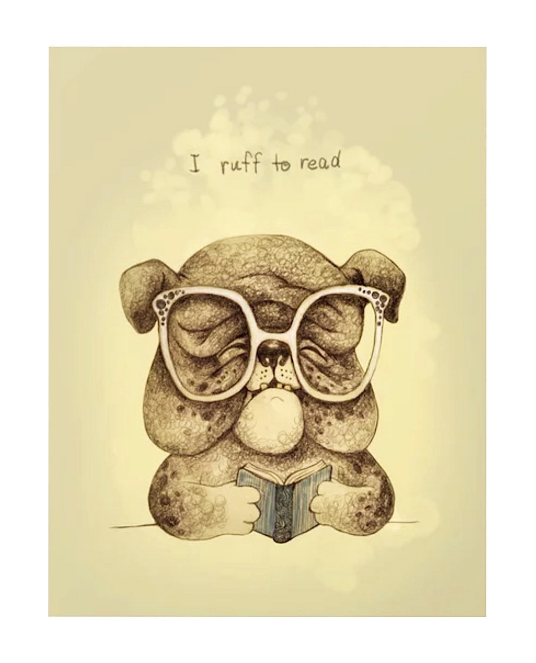I ruff to read poster by Ma. Luisa Gonzaga - best read posters