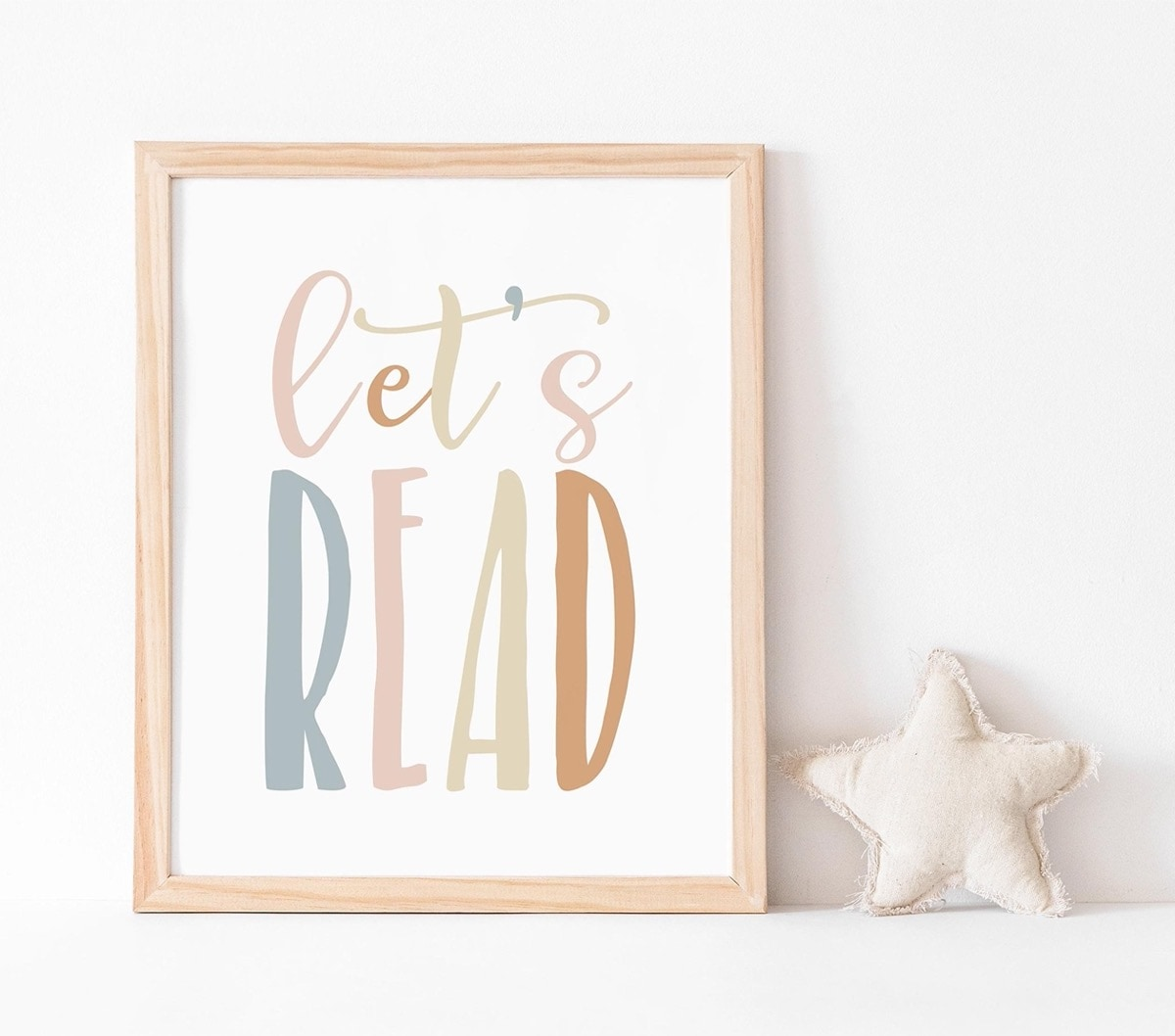 Let us read - a beautiful poster encouraging to read