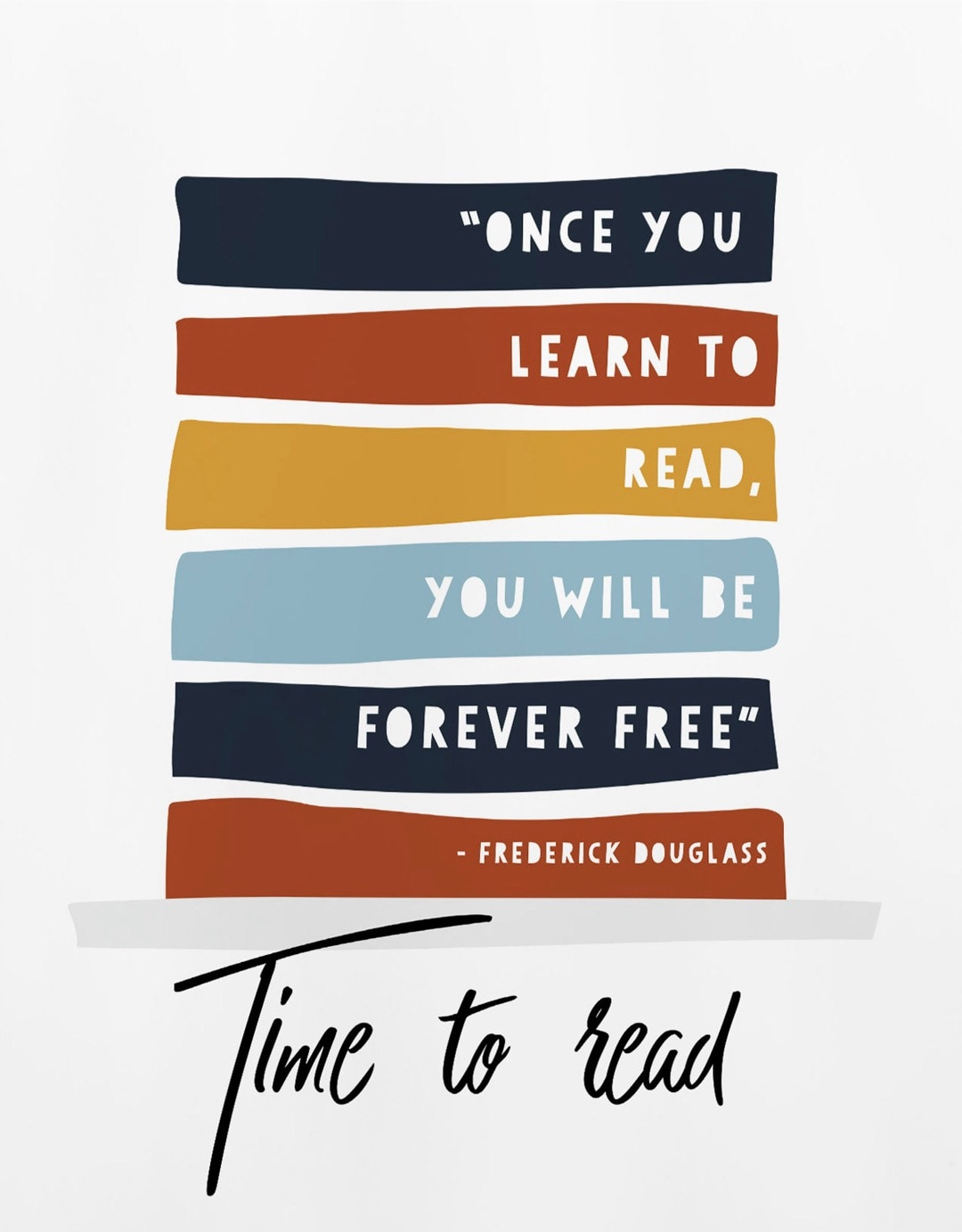 Once you learn to read poster - best reading posters on Etsy