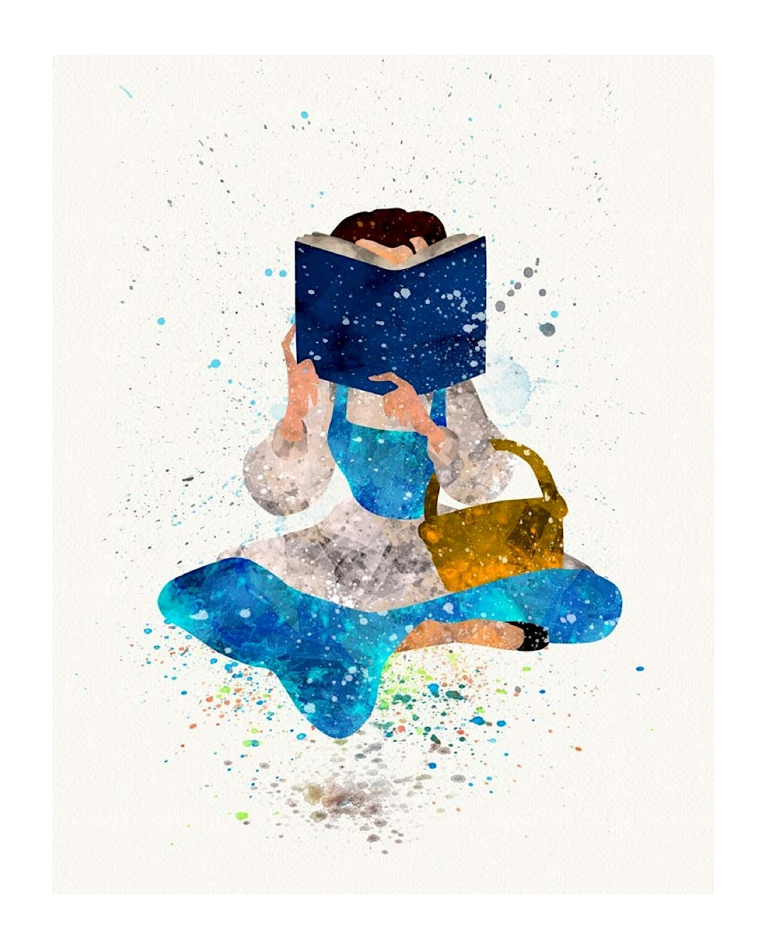 Belle reading a book - best read posters
