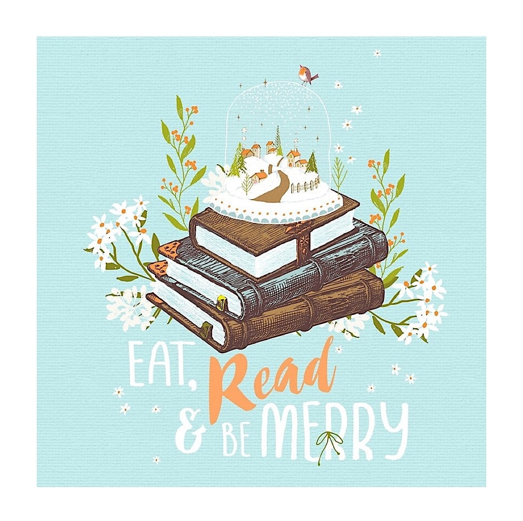Eat read and be merry - best read posters