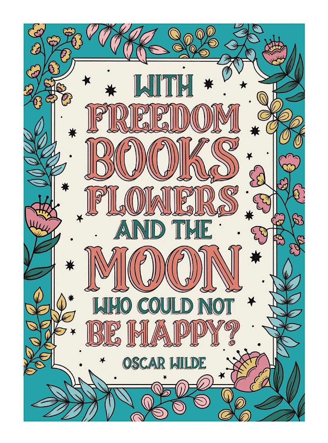 Flowers books quote - best read posters