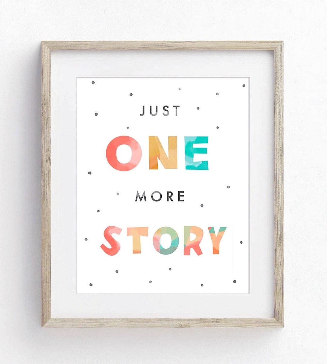 Just one more story - best read posters