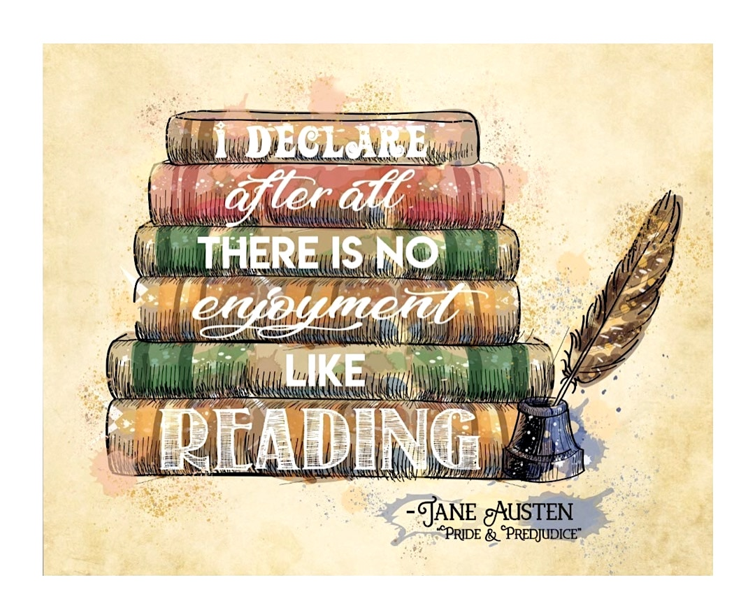 No enjoyment like reading - book posters