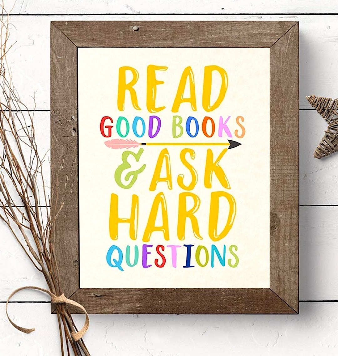 Read good books and ask hard questions - best read posters