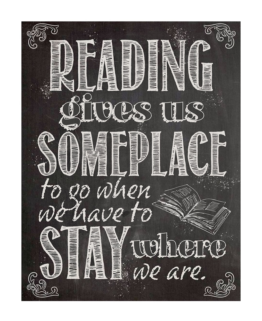 Reading gives us someplace to go - best read posters