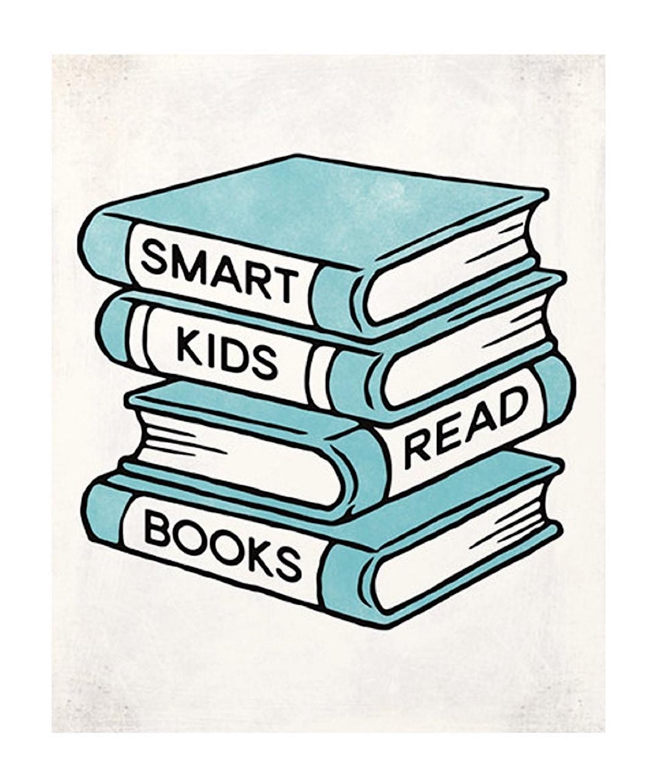 Smart kids read books - best read posters