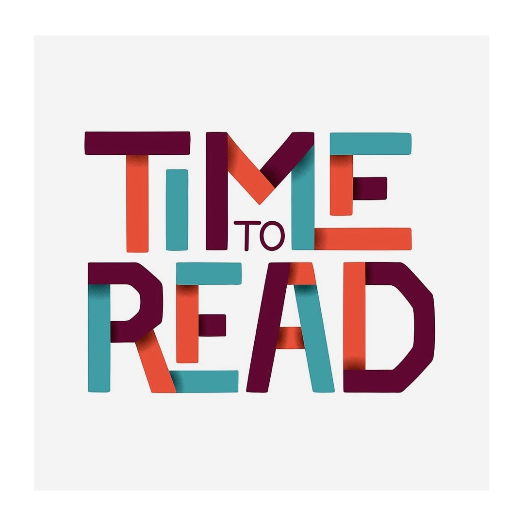 Time to read lettering poster - best read posters