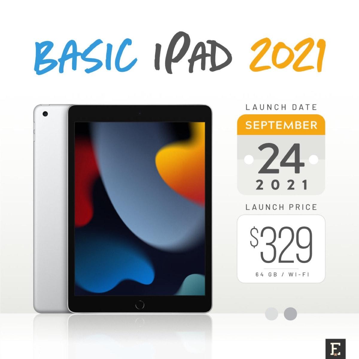 Basic iPad 2021 10.2-inch full specs