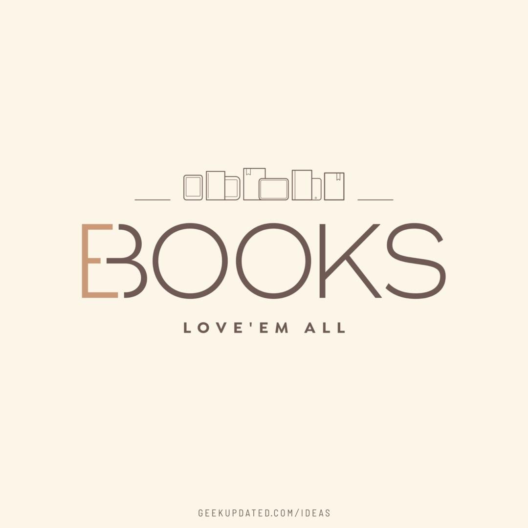 Books ebooks love them all - design by Piotr Kowalczyk